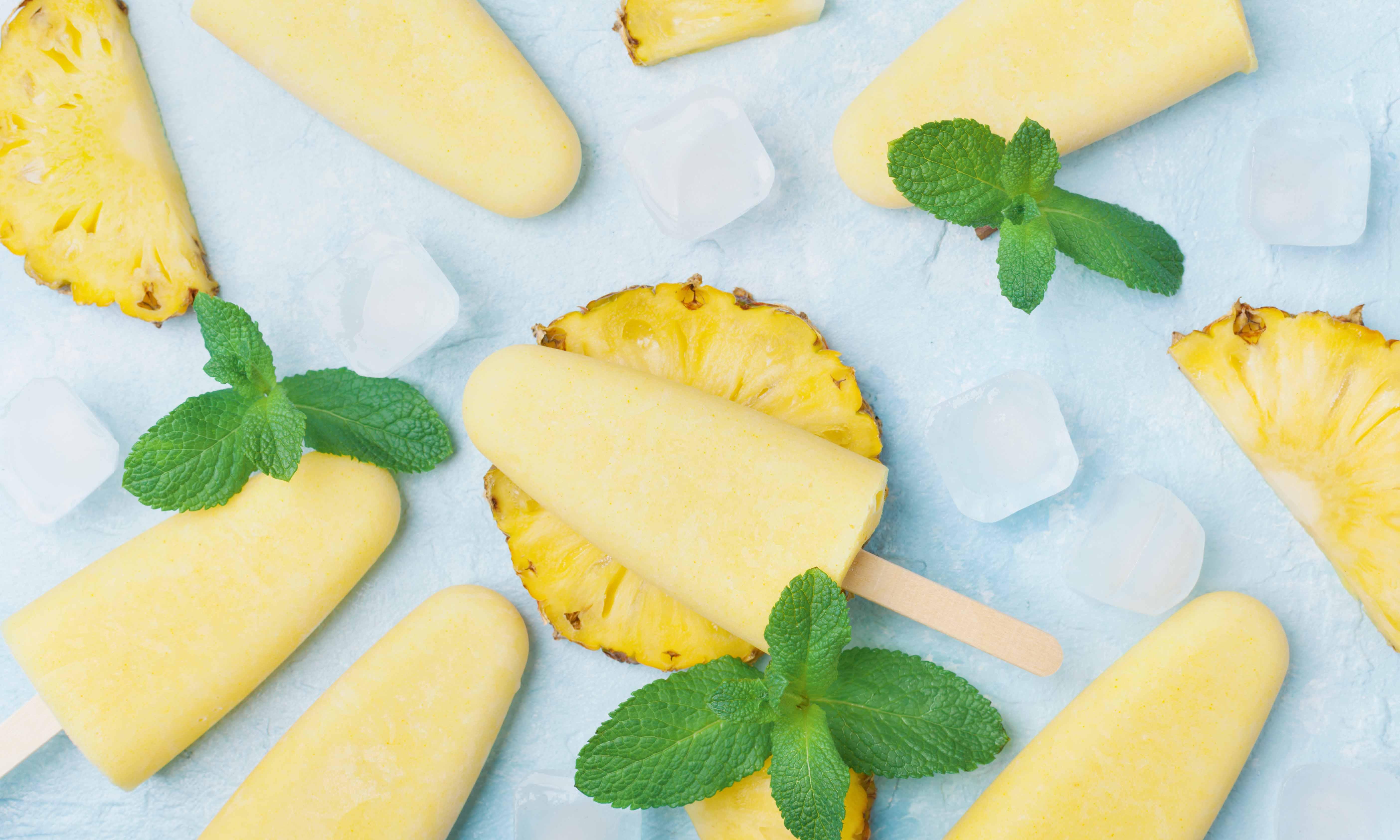 Gezonde ananasijsjes