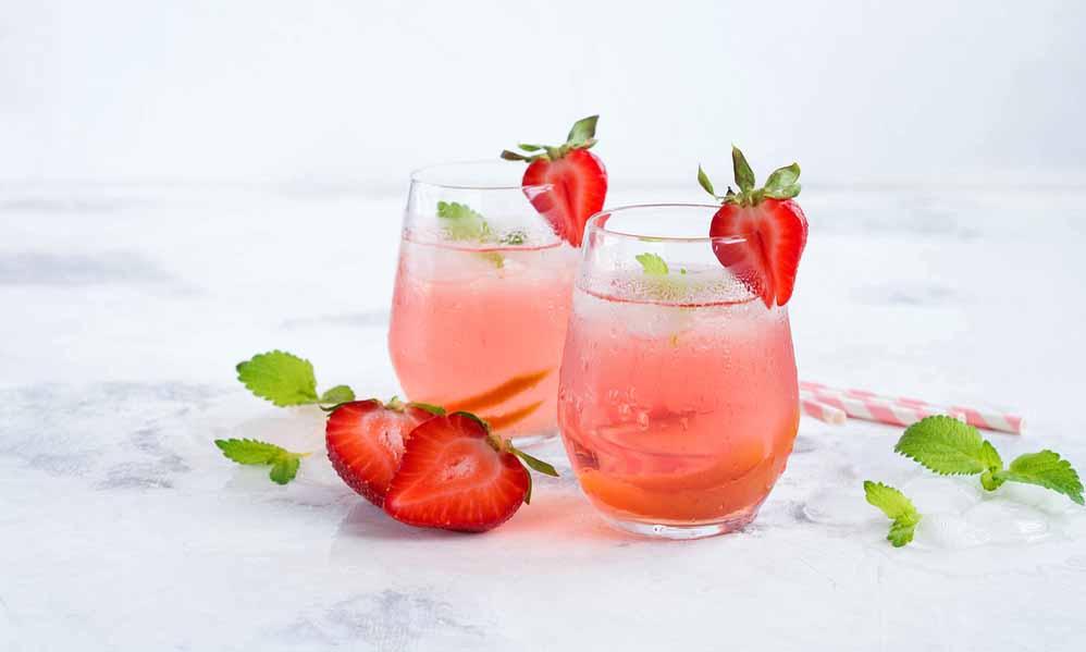 Limonade fruitée à la fraise
