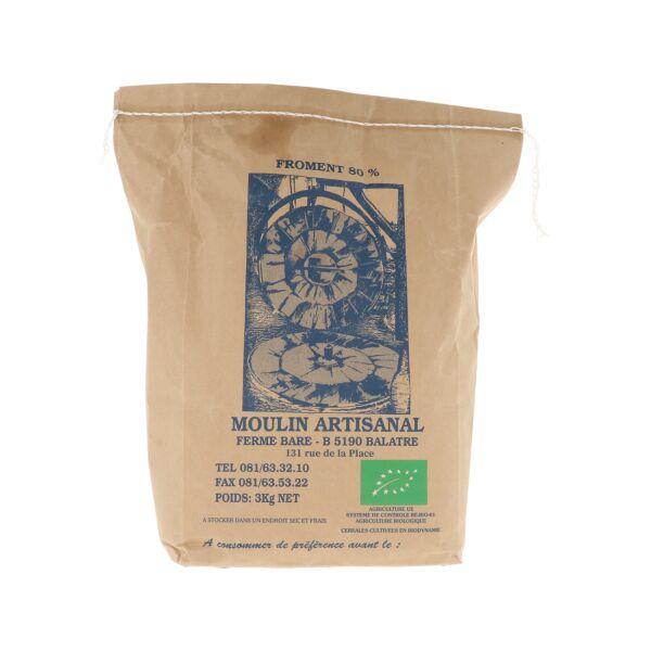 Farine de blé 80% (3 kg)