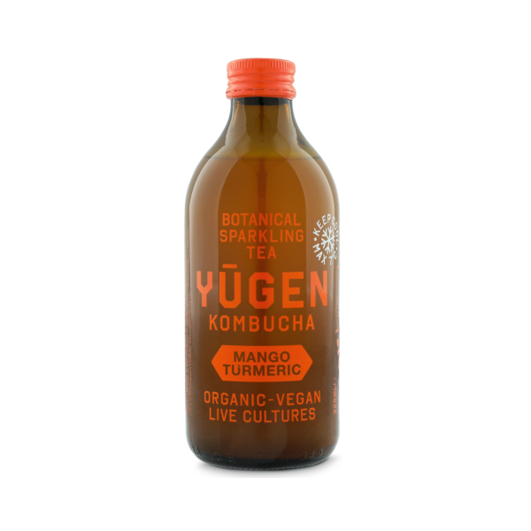 Yugen Kombucha - Mangue et curcuma (0,33 l)